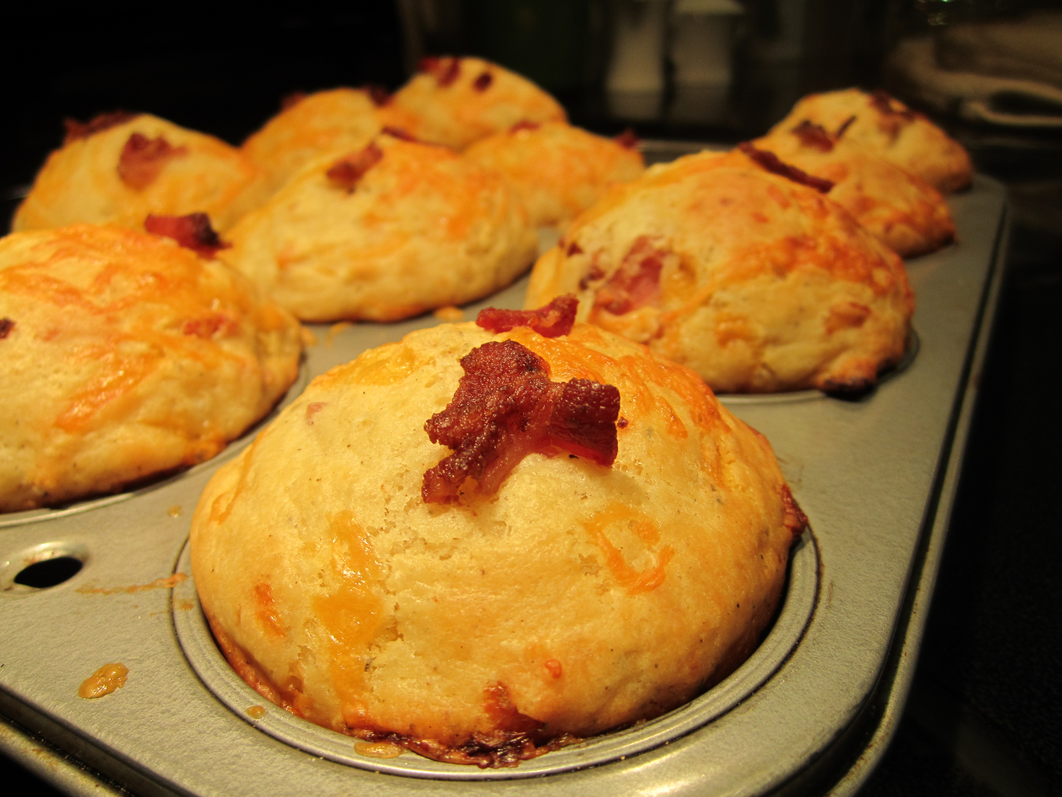 Savory Bacon And Cheddar Muffins