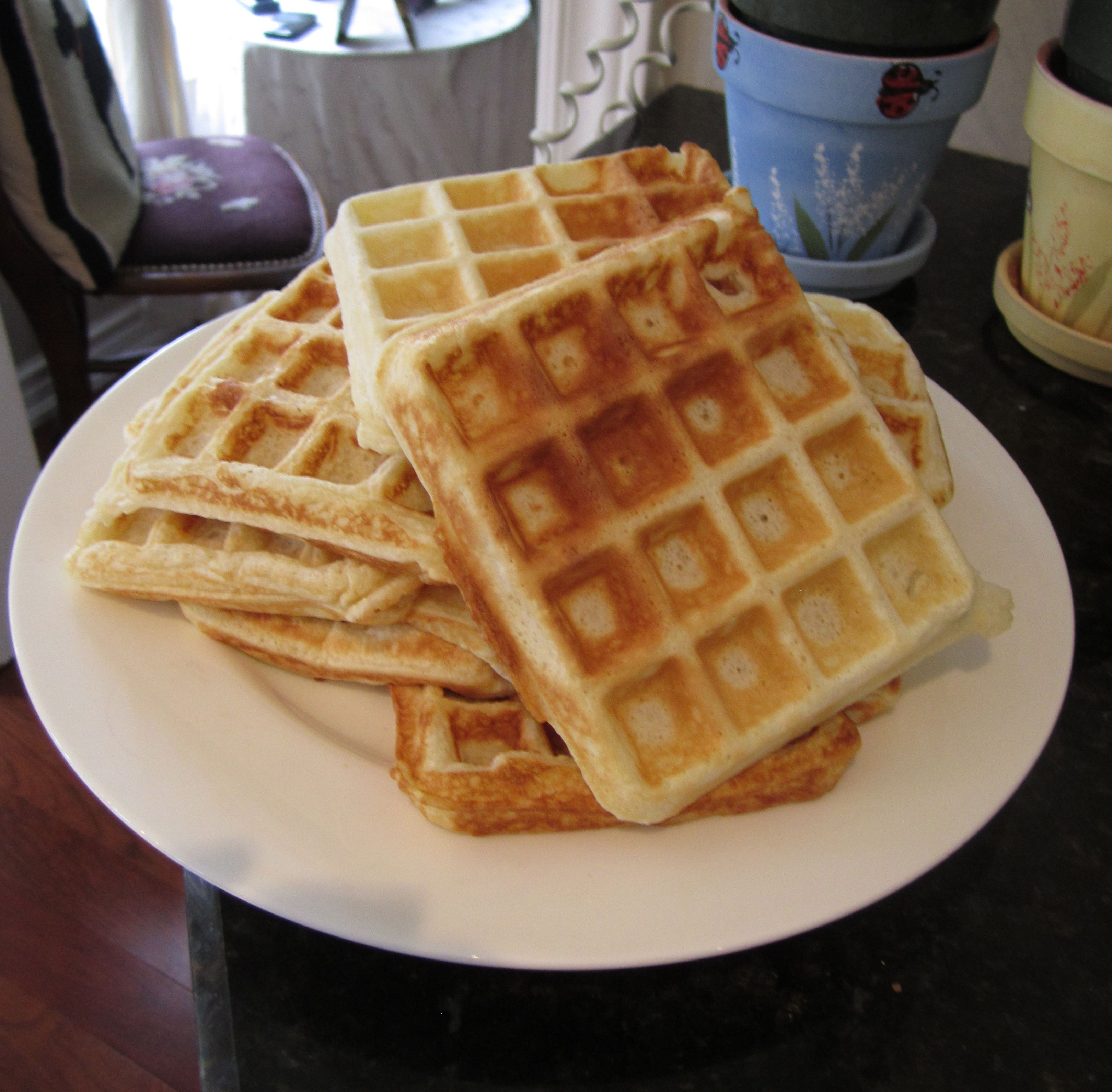 Mom's Light as Air Waffles | Leslie the Foodie
