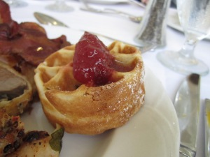 Cranberry Waffle with Plum Capote