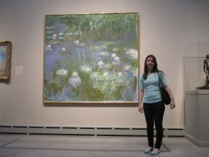 Me infront of a Claud Monet Painting at Toledo Museum of Art