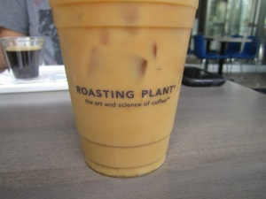 Iced coffee at Roasting Plant