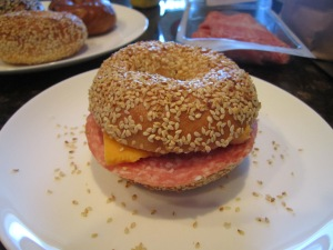 The Ernest Bagel - with cold cuts and cheese